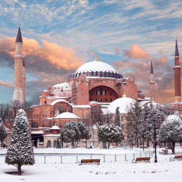 Hagia Sophia in winter